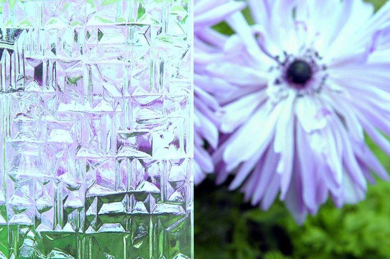 decorative ornamental glass abstracto