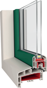 window corner designed for dutch market with exteriori rebate