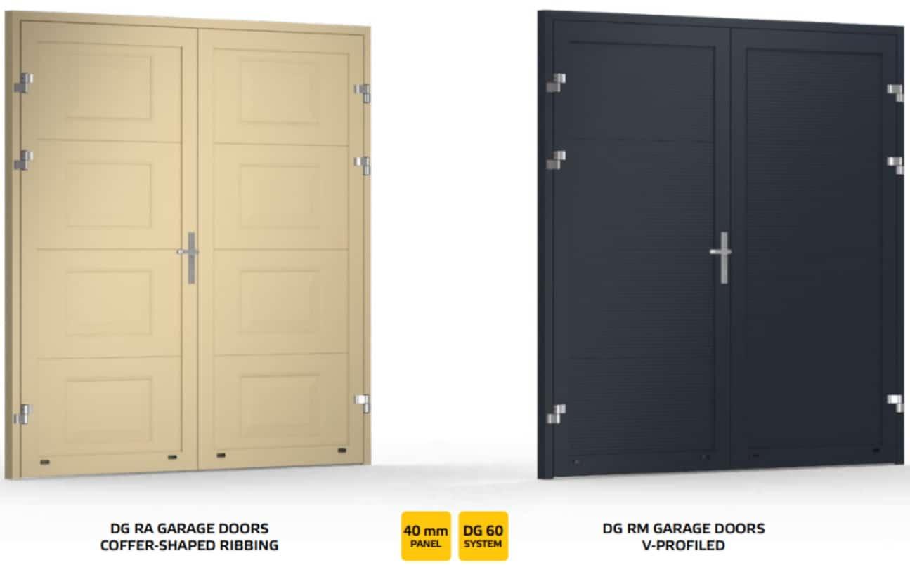 double leaf garage door design