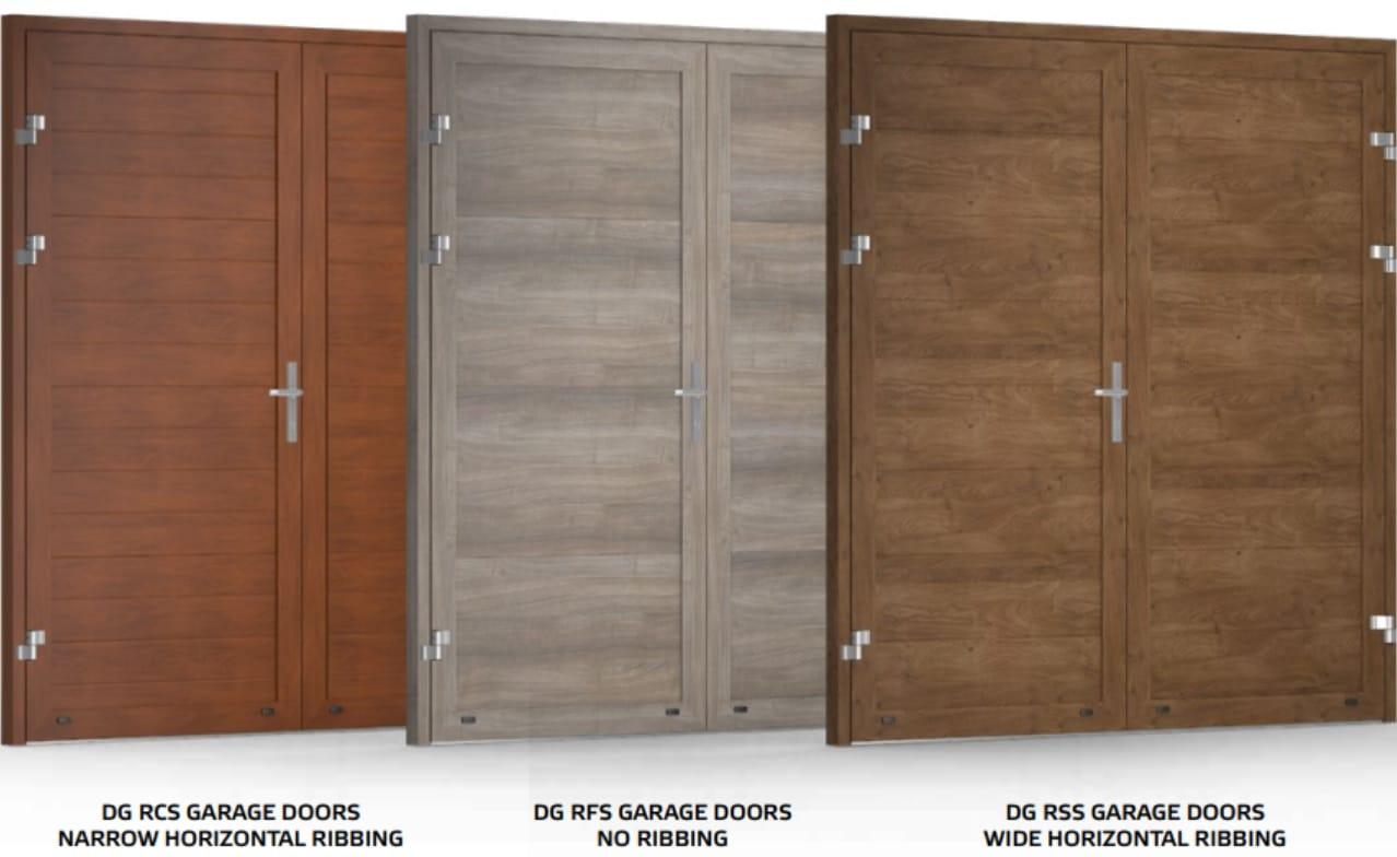 double leaf garage door designs