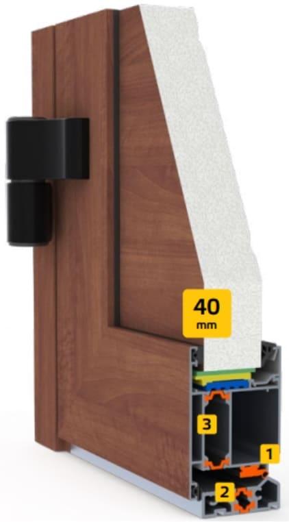 side door frame and leaf panel 40mm