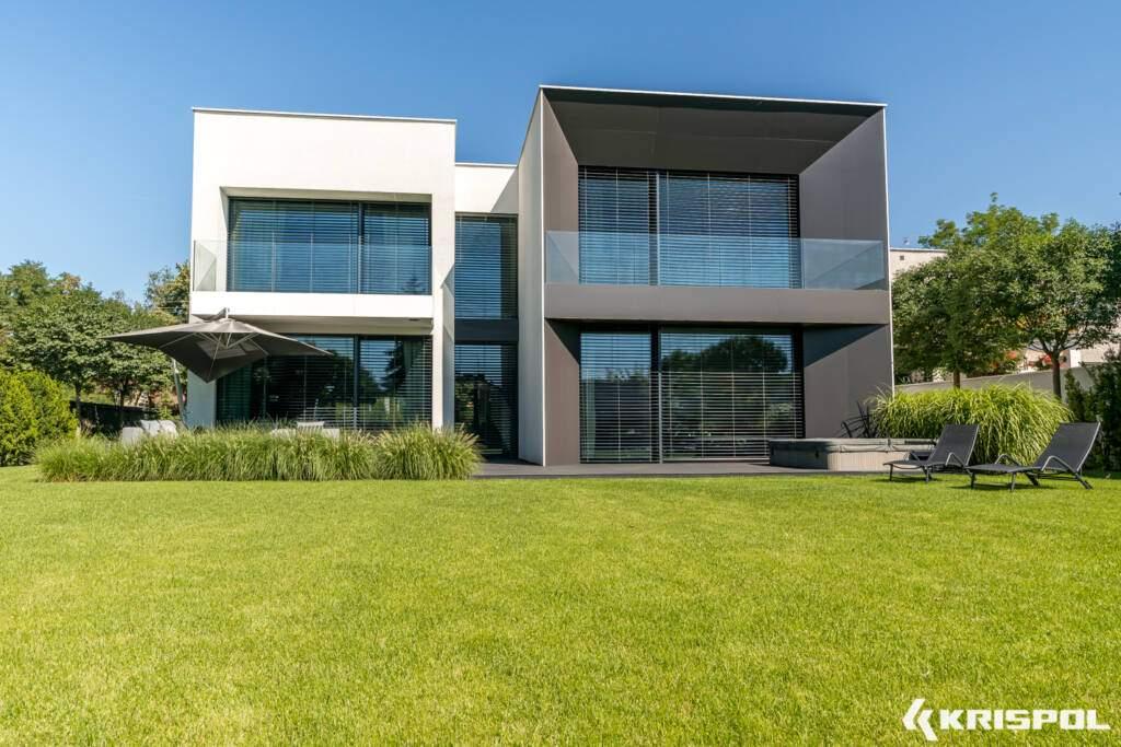 large glazing big house
